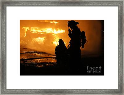 Through The Flames Framed Print