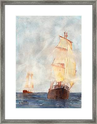 Through The Fog Framed Print by Ken Powers