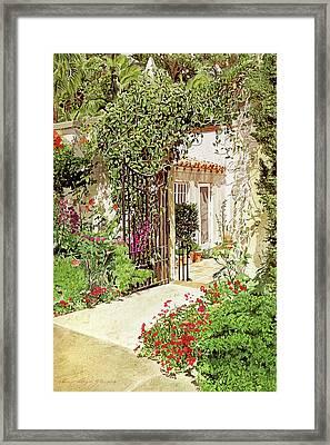 Through The Garden Gate Framed Print
