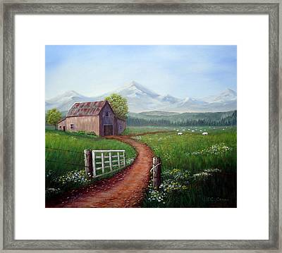 Through The Gate Framed Print by SueEllen Cowan