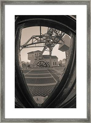 Through The Gear In Mystic Ct Framed Print