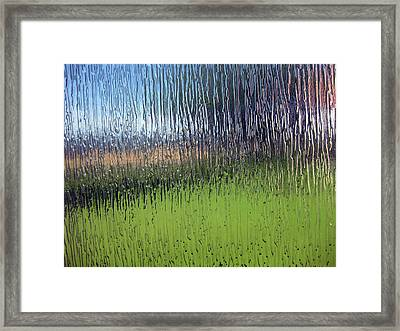 Through The Glass Framed Print by Sarah Hornsby