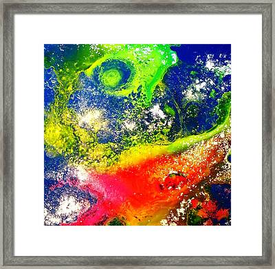 Through The Haze Of Time Three Framed Print by Louise Adams