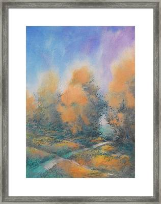 Through The Hole In The Trees, No. 2 Framed Print by Virgil Carter