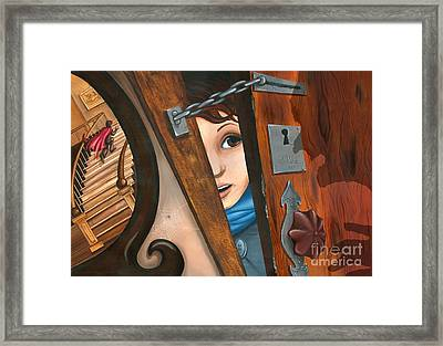 Through The Keyhole Framed Print by Denise M Cassano