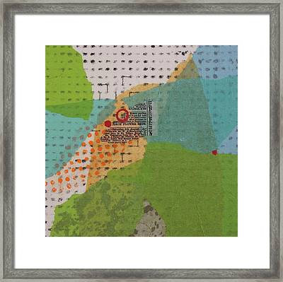 Through The Leaves Framed Print by Catherine Hollander