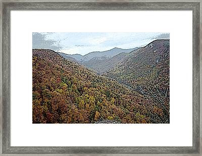 Framed Print featuring the photograph Through The Mountains by Skyler Tipton