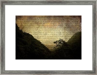 Through The Mountains Framed Print by Valmir Ribeiro