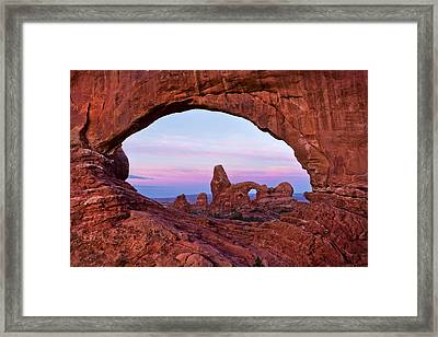 Through The North Window Framed Print