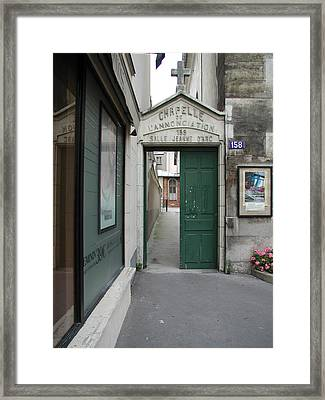 Framed Print featuring the photograph Through The Open Door by Nancy Taylor