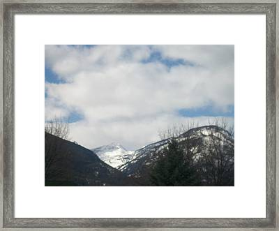 Through The Pass Framed Print by Jewel Hengen