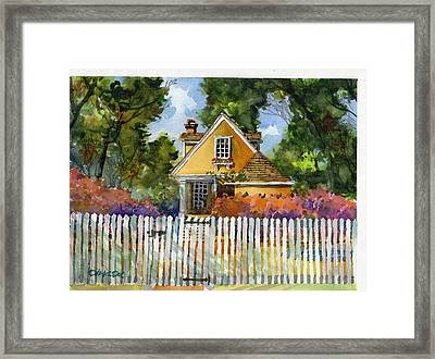 Through The Pickets Framed Print