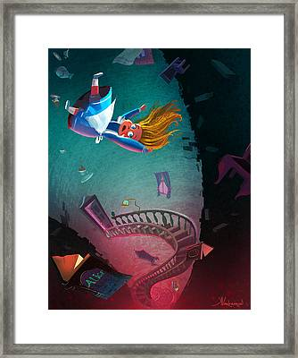 Through The Rabbit Hole Framed Print by Kristina Vardazaryan