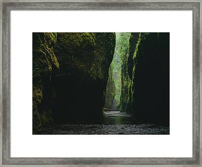 Through The River Framed Print
