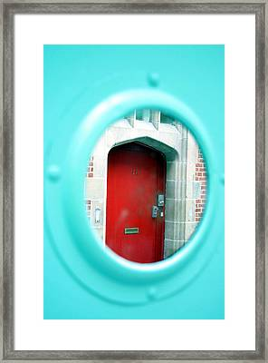Framed Print featuring the photograph Through The Round Window by Jez C Self