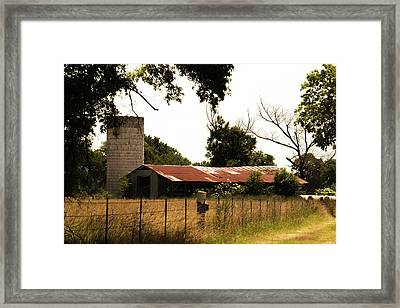 Through The Shadows Framed Print by Barry Jones