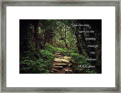 Through The Shadows Framed Print by Jessica Brawley