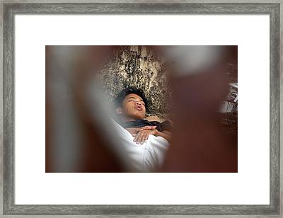 Through The Sleep Framed Print by Jez C Self