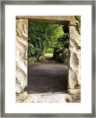 Through The Stone Wall Framed Print by Rae Tucker
