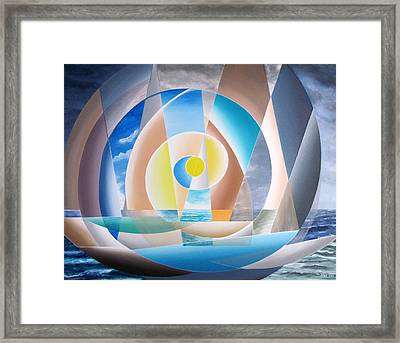 Framed Print featuring the painting Through The Storm by Douglas Pike