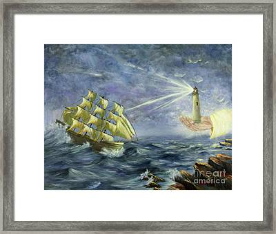 Framed Print featuring the painting Through The Storm by Kristi Roberts