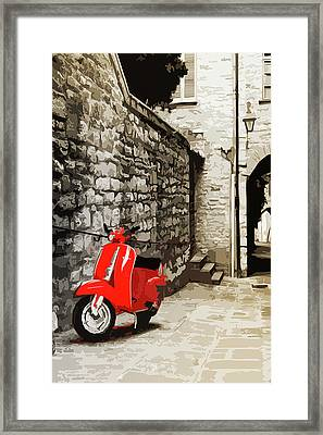 Through The Streets Of Italy - 01 Framed Print by Andrea Mazzocchetti