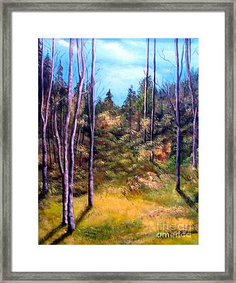 Framed Print featuring the painting Through The Trees by Anna-maria Dickinson