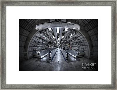 Through The Tunnel Framed Print by Evelina Kremsdorf