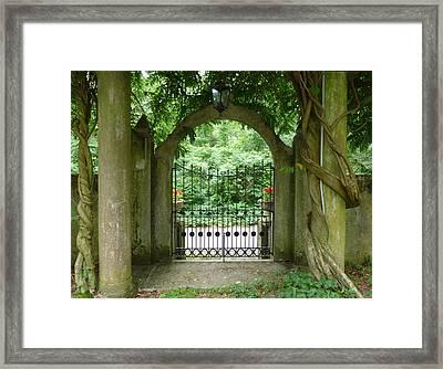 Through The Tuscan Gate Framed Print