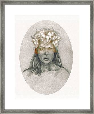 Through The Veil Framed Print