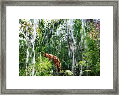 Through The Waterfall Framed Print