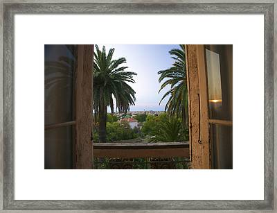 Through The Window Of Le Reve, Where Framed Print by Michael Melford
