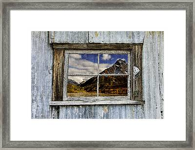 Through The Window Of The Past 2 Framed Print