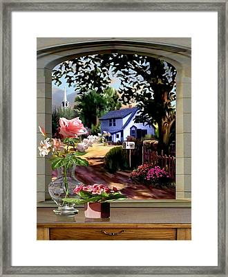 Through The Window Framed Print by Ron Chambers