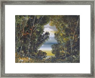 Through The Woods Framed Print by Andy Davis