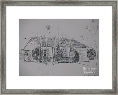 Through The Woods To Grandmother Framed Print by James SheppardIII