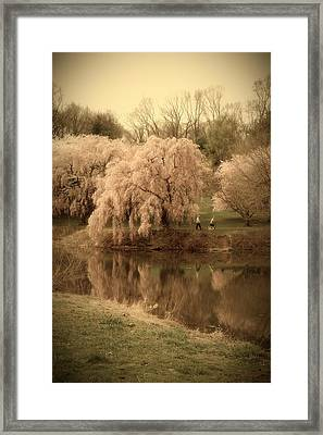 Through The Years - Holmdel Park Framed Print by Angie Tirado