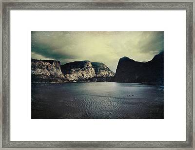 Through Thick Or Thin Framed Print by Laurie Search