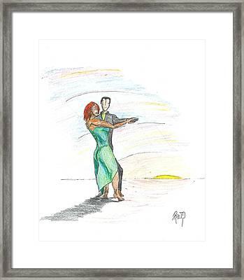 Through 'til Dawn... Sketch Framed Print by Robert Meszaros