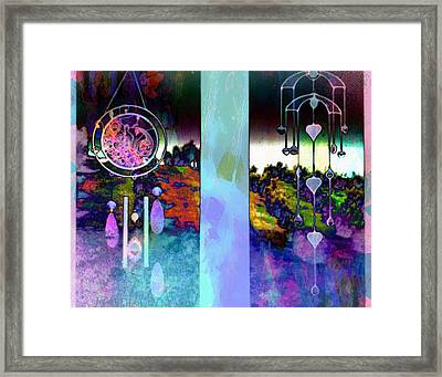 Through To The Groves Dusk Framed Print