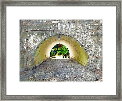 Framed Print featuring the mixed media Through by Tony Rubino