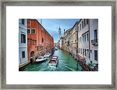 Through Venetian Canals Framed Print