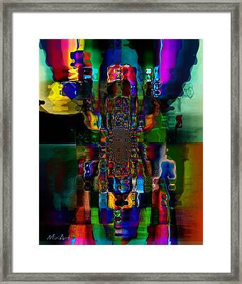 Framed Print featuring the photograph Through Water by Miriam Shaw
