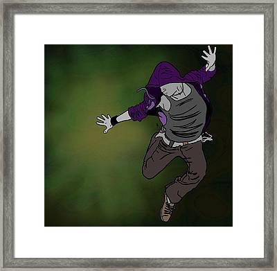 Throw It Framed Print by M Blaze Wolenski