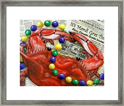 Throw Me Somethin Framed Print by JoAnn Wheeler