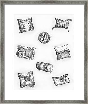 Throw Pillows Framed Print by Adam Zebediah Joseph