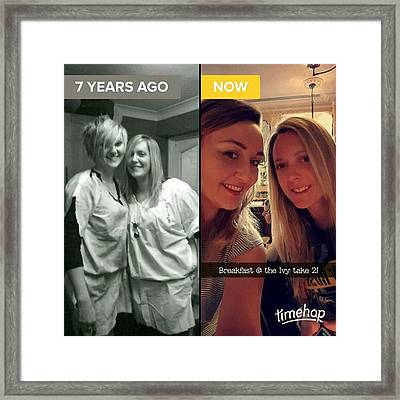 #throwback #thenandnow #love #loveher Framed Print by Natalie Anne