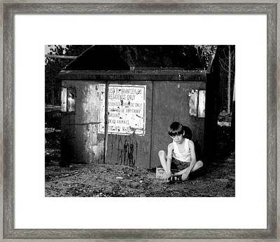 Thrown Away Framed Print by Dana Blalock