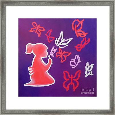Thru A Childs Rosecolored Glasses Framed Print by Jilian Cramb - AMothersFineArt