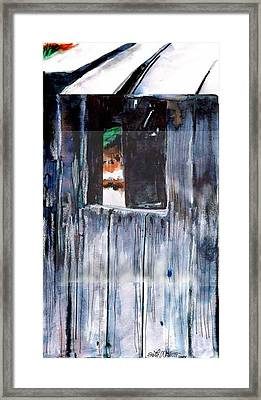 Framed Print featuring the drawing Thru The Barn Window by Seth Weaver
